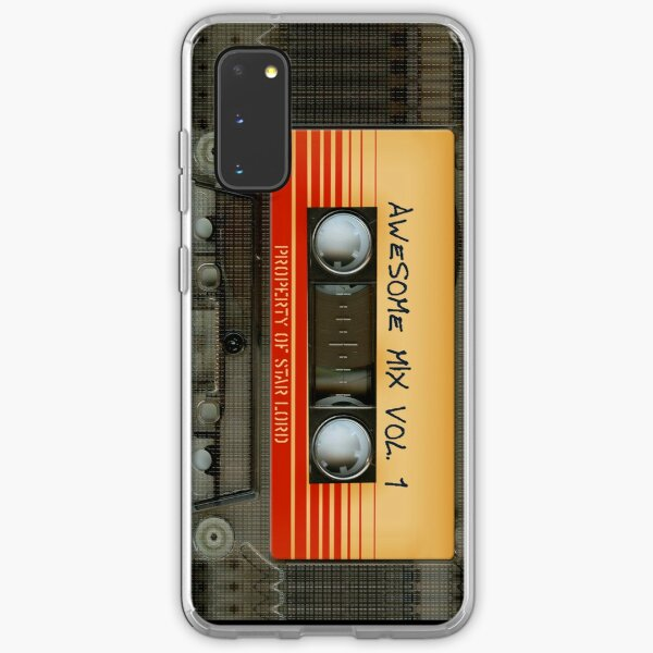 Awesome transparent mix cassette tape volume 1 Samsung Galaxy Soft Case
