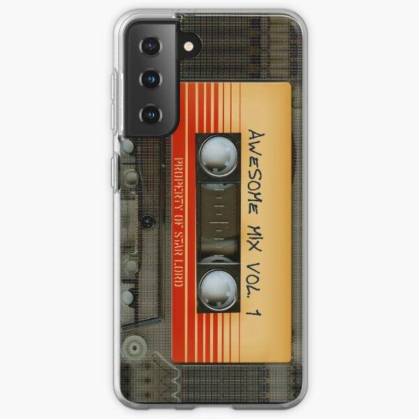 Impressionnant volume de cassette de mélange transparent transparent 1 Coque souple Samsung Galaxy