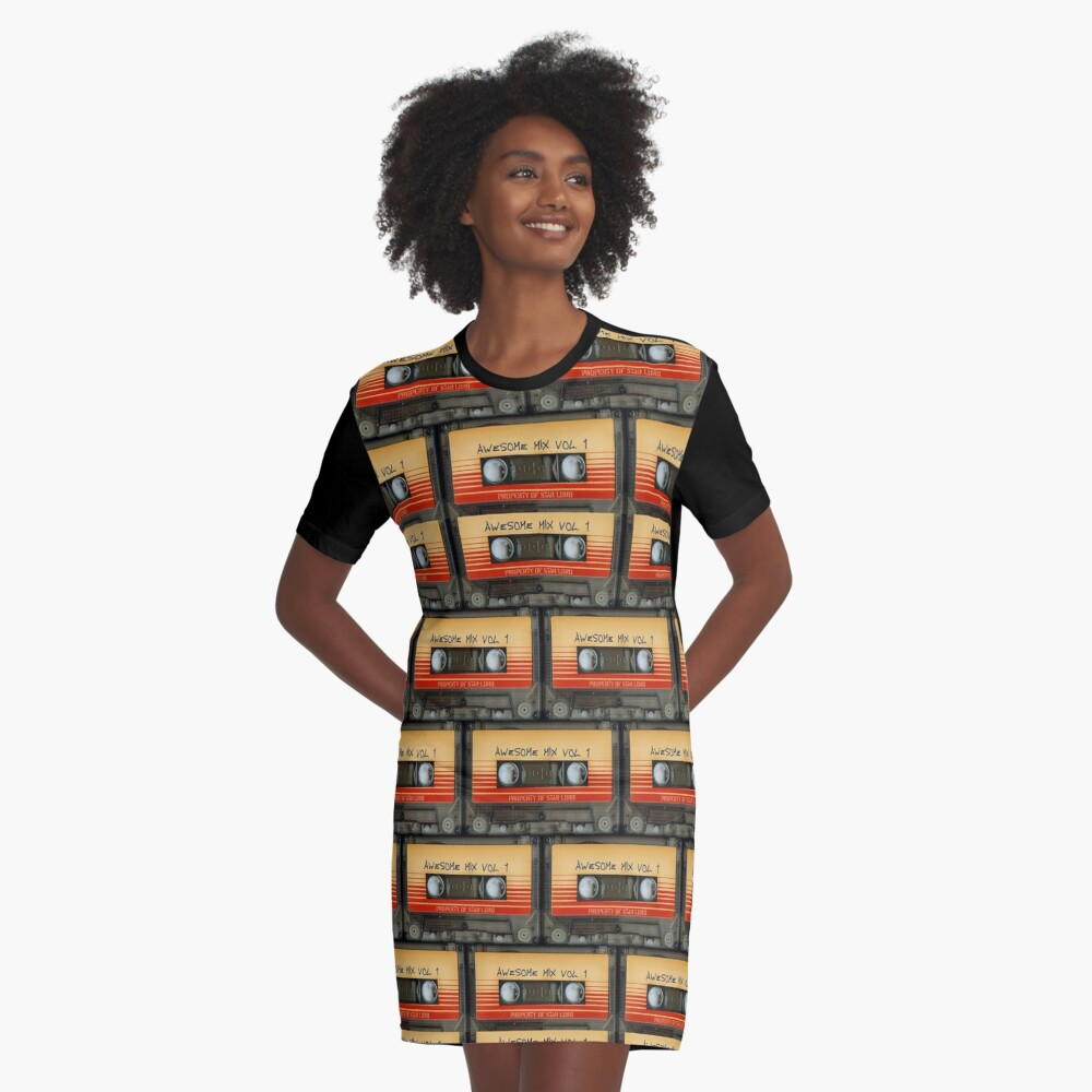 Awesome transparent mix cassette tape volume 1 Graphic T-Shirt Dress
