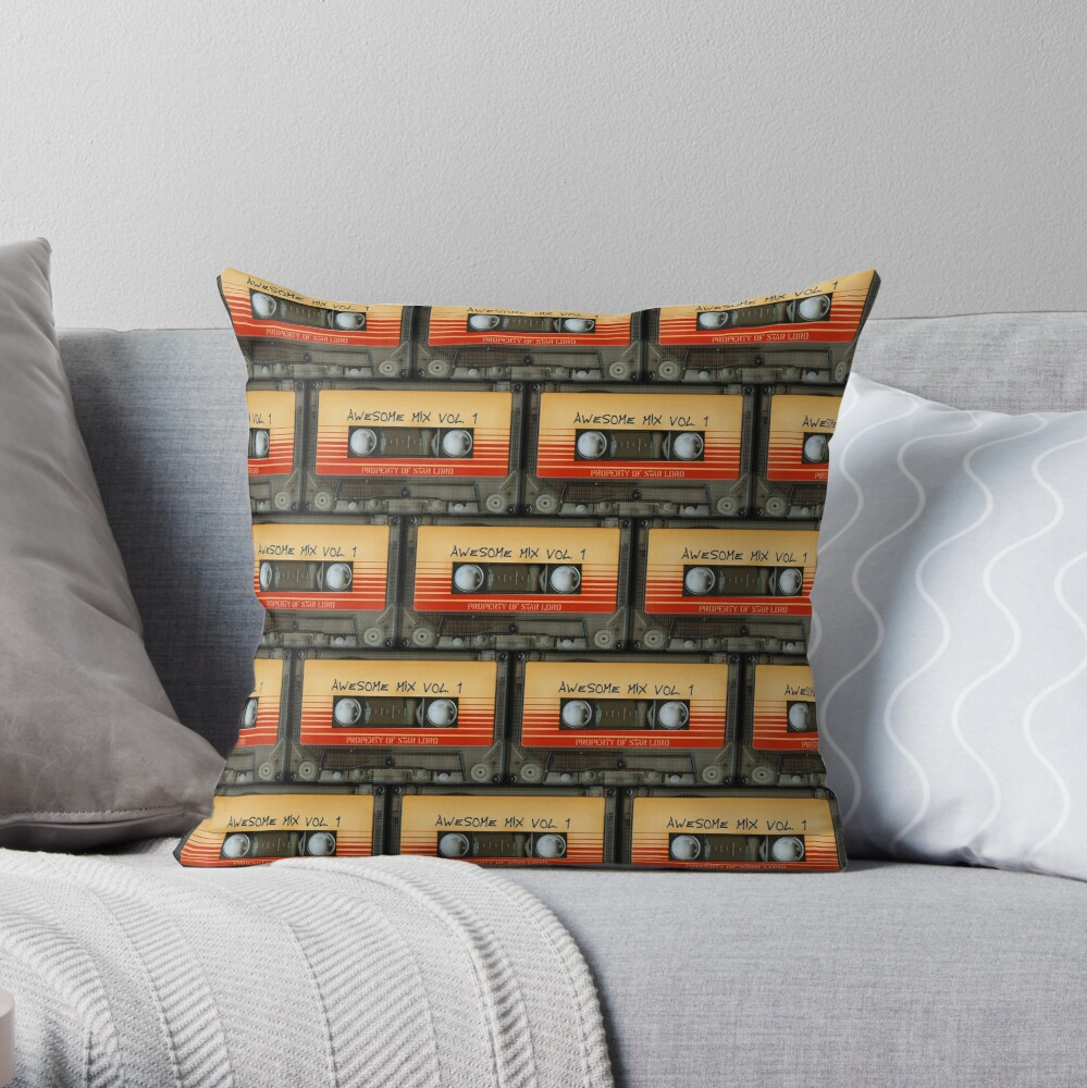 Awesome transparent mix cassette tape volume 1 Throw Pillow