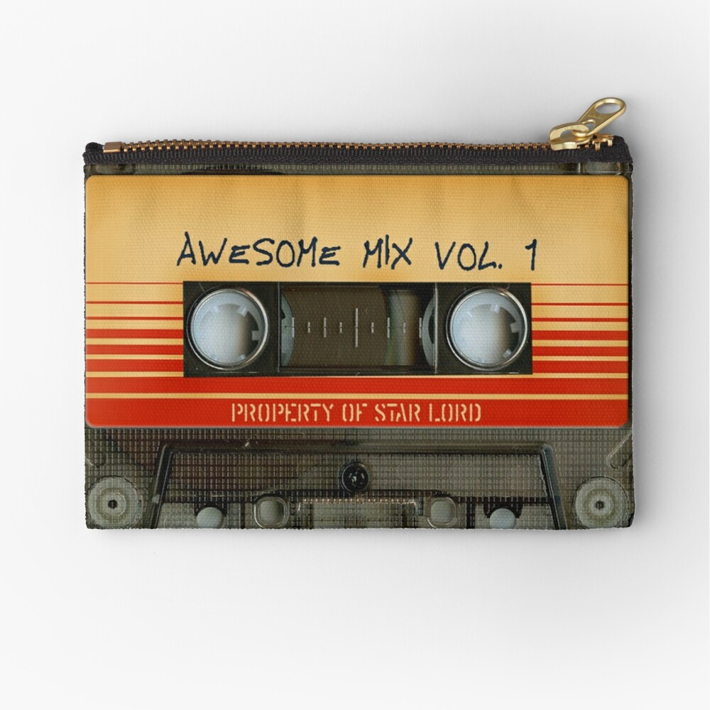 Awesome transparent mix cassette tape volume 1 Zipper Pouch