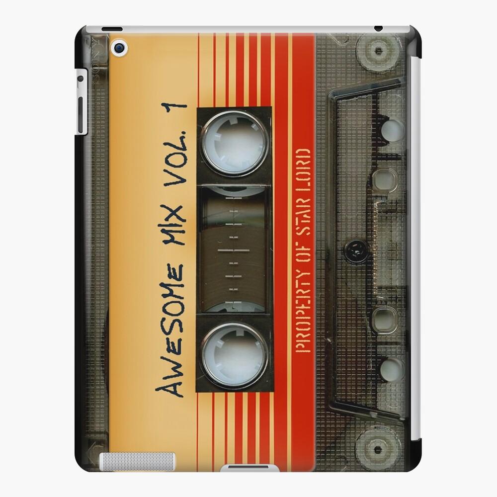 Impresionante volumen de cinta de cassette de mezcla transparente 1 Funda y vinilo para iPad