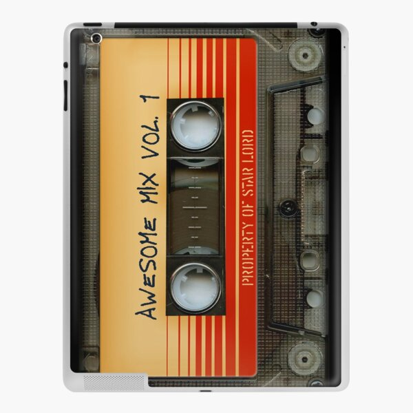 Awesome transparent mix cassette tape volume 1 iPad Skin