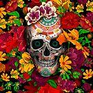 Tag des toten Zuckerschädels mit Blume von Dadang Lugu Mara Perdana