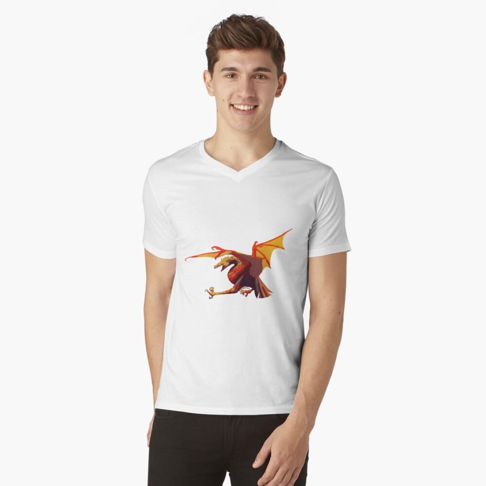 Ein anderer Drache T-Shirt mit V-Ausschnitt