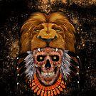 indian native lion head sugar Skull by Dadang Lugu Mara Perdana