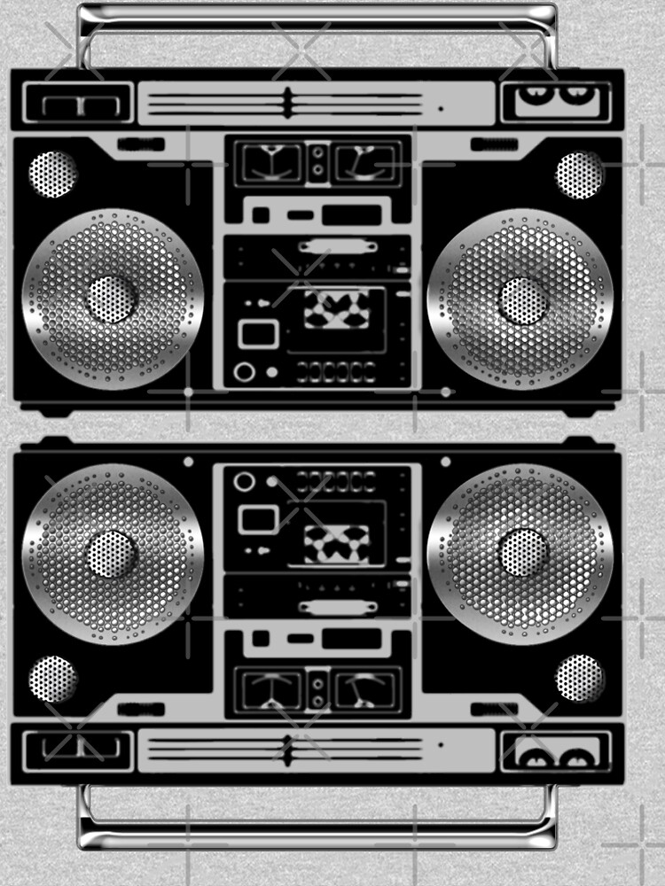 Silver Boombox by mikesbliss