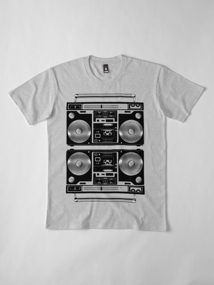 Alternate view of Silver Boombox Premium T-Shirt