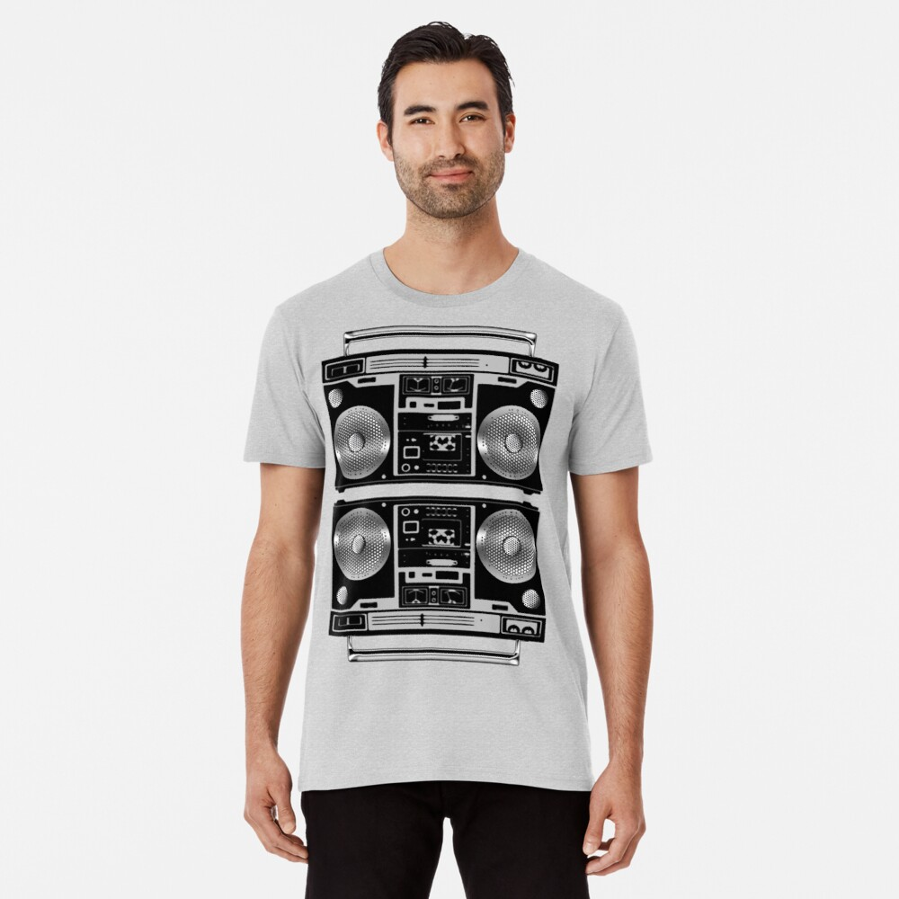 Silver Boombox Premium T-Shirt