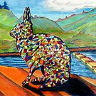 303 - MOSAIC BUNNY - DAVE EDWARDS - COLOURED PENCILS & INK - 2010 by BLYTHART