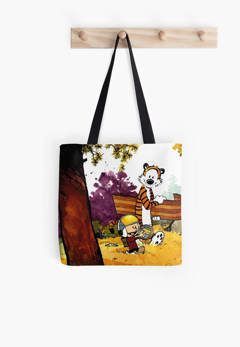 Bolsas de tela «Calvin Hobbes, regalo de guardería, dibujos animados ...