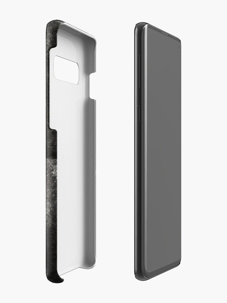 Vista alternativa de Funda y vinilo para Samsung Galaxy Máscara de samurai de metal rústico