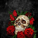 Red Rose Sugar skull by Dadang Lugu Mara Perdana
