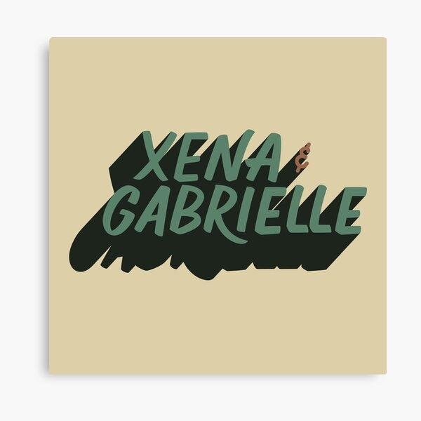 Xena & Gabrielle Canvas Print