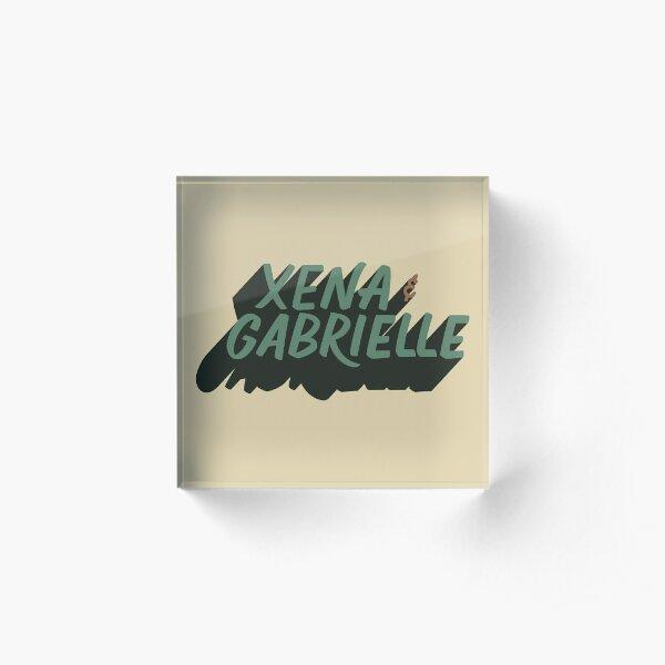 Xena & Gabrielle Acrylic Block