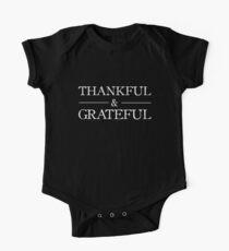 Thankful & Grateful One Piece - Short Sleeve