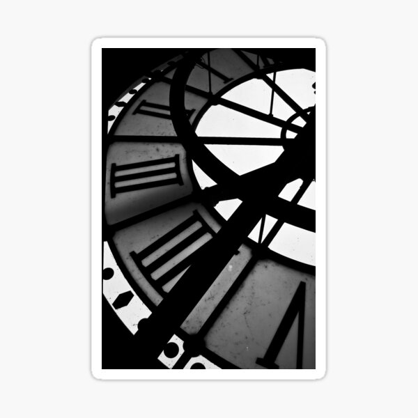 Time stood still Sticker