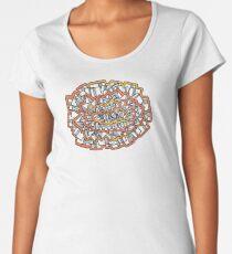 Orange borders Women's Premium T-Shirt