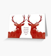 Valentine Stags Greeting Card