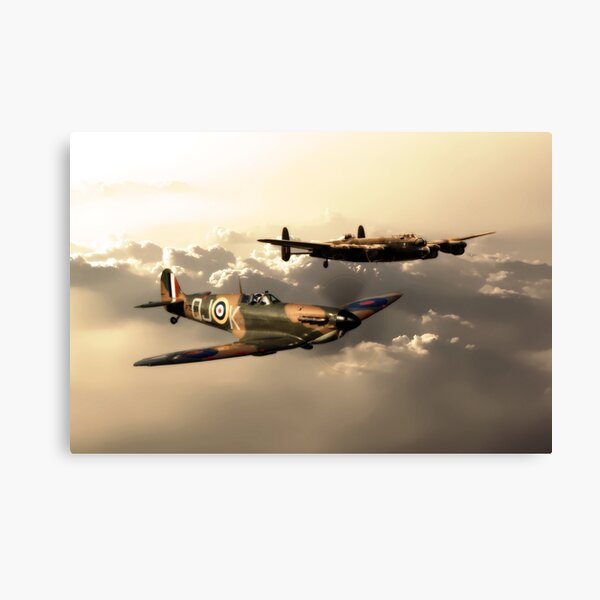 BBMF Spitfire and Lancaster Canvas Print