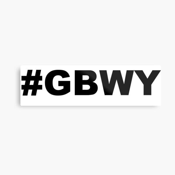 #gbwy Metal Print