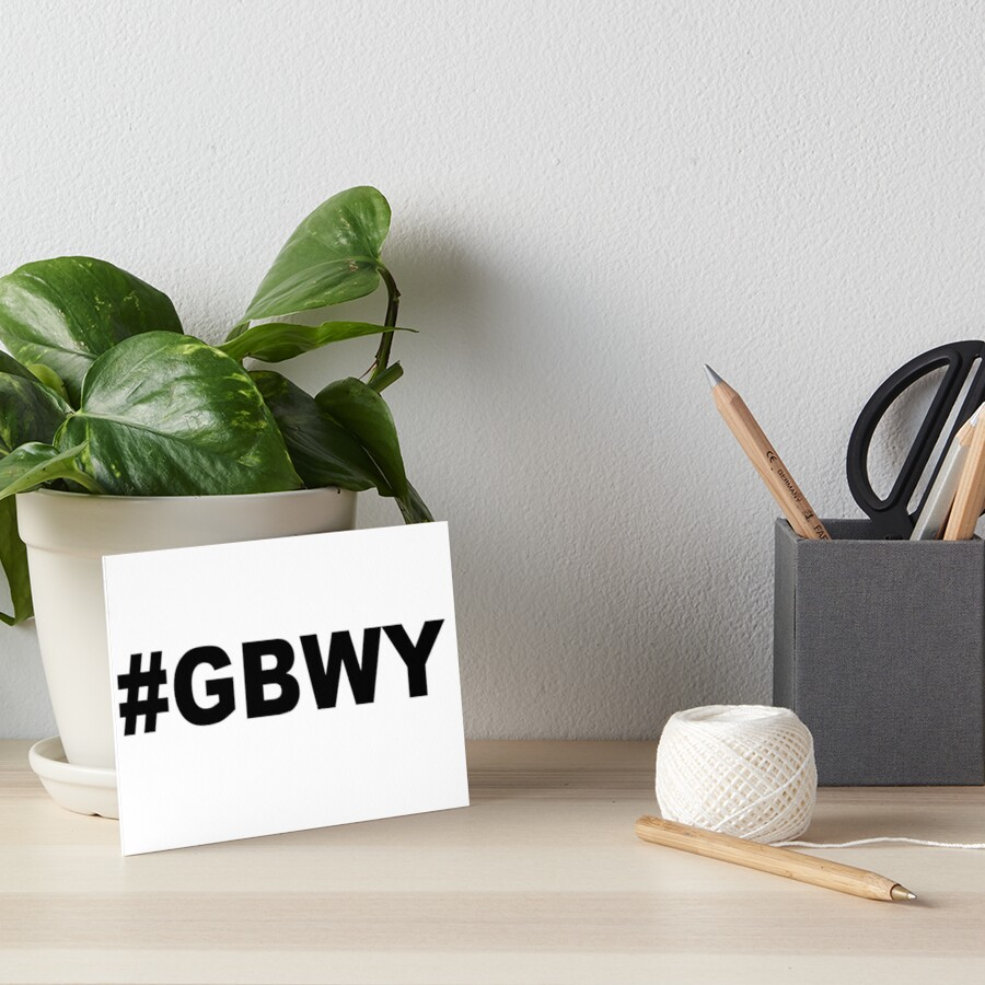 #gbwy Art Board Print