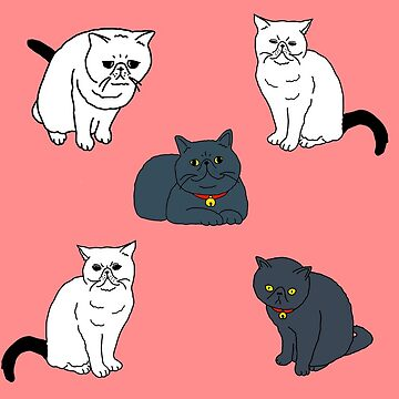 Black & White Cats Pattern by m-lapino