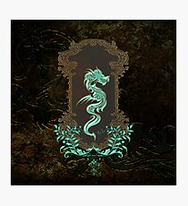 Awesome chinese dragon Photographic Print