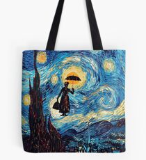 The Flying Lady with an Umbrella Oil Painting Tote Bag