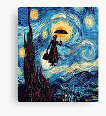 The Flying Lady with an Umbrella Oil Painting Canvas Print