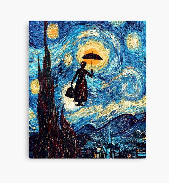 The Flying Lady with an Umbrella Oil Painting by Dadang Lugu Mara Perdana