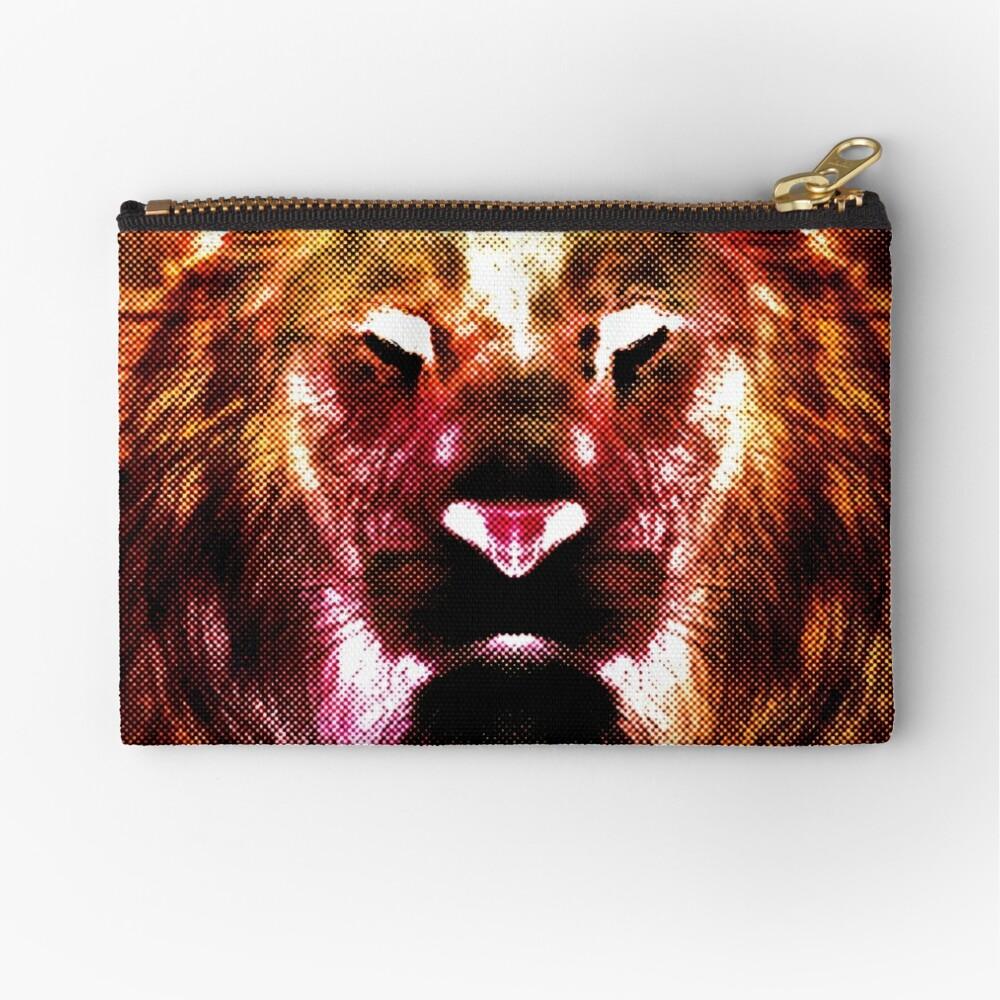 Heart Of A Lion Zipper Pouch