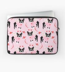 Boston Terrier valentines day cute dog gifts pure breed rescue dogs must haves Laptop Sleeve