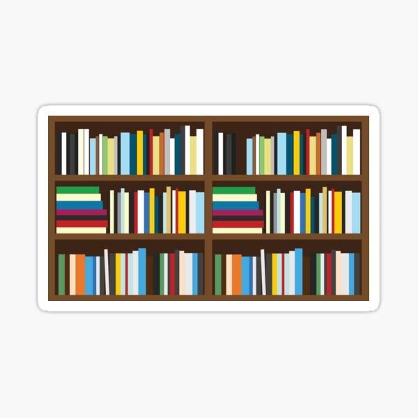 Bookshelves, Books on a shelf Sticker