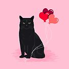 Black Cat valentines day balloons hearts cat breeds must have gifts valentine's day by PetFriendly