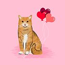 Orange Tabby ginger cats valentines day balloons hearts cat breeds must have gifts valentine's day by PetFriendly