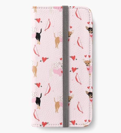 Chihuahua love bug valentines day gifts for chihuahuas pure breed must haves iPhone Wallet