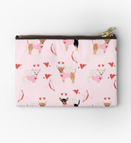 Chihuahua love bug valentines day gifts for chihuahuas pure breed must haves Zipper Pouch