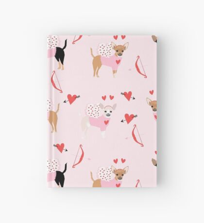 Chihuahua love bug valentines day gifts for chihuahuas pure breed must haves Hardcover Journal