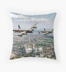 Two Lancasters over Lincoln Throw Pillow