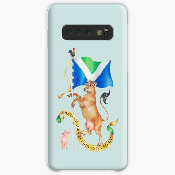 Vegan Coat of Arms by Maria Tiqwah Samsung Galaxy Snap Case