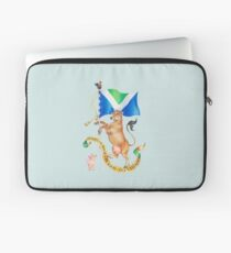 Vegan Coat of Arms by Maria Tiqwah Laptop Sleeve