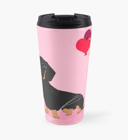 Dachshund valentines day gifts heart balloons dog breed must haves dachsie doxie  Travel Mug