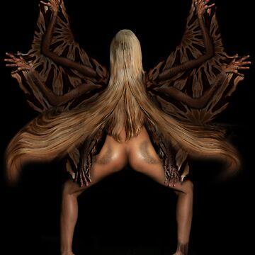 Alien Butterfly Girl by emiljianu