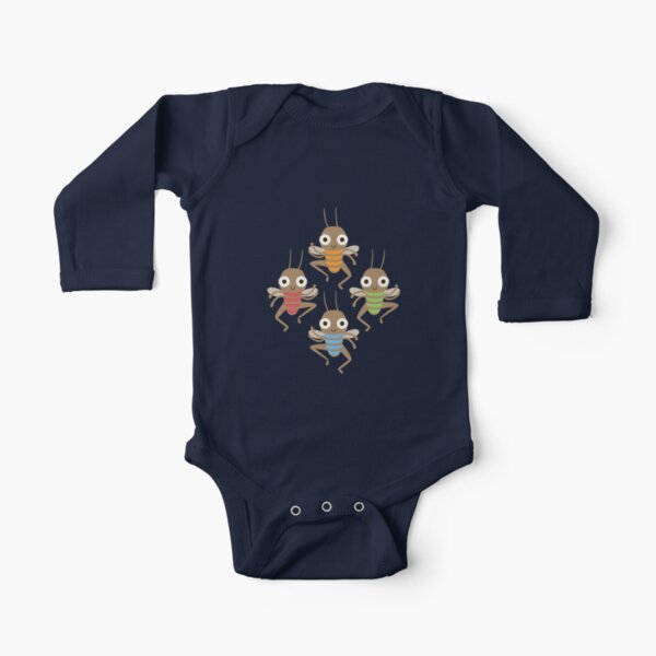 Dancing crickets Long Sleeve Baby One-Piece