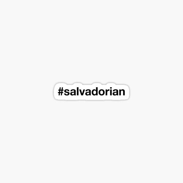 EL SALVADOR Hashtag Pegatina