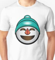 Happy Snowman in a Beanie Unisex T-Shirt
