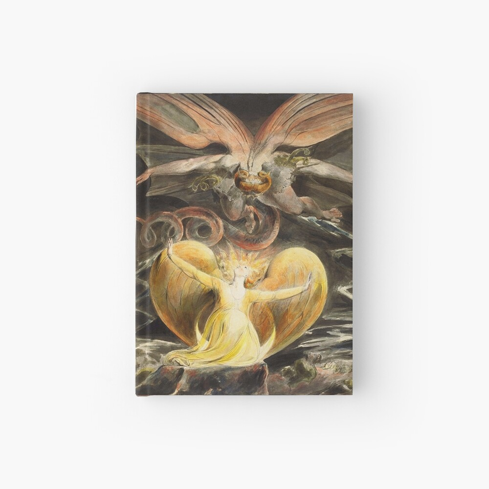 The Great Red Dragon and The Woman Fine Art Print On Canvas William Blake
