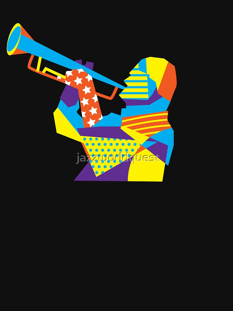 Colorful Jazz Trumpet Musician by jazzworldquest