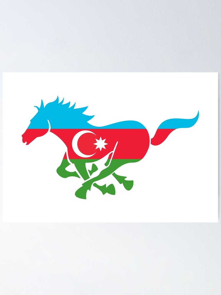 Flag Karabakh Of Azerbaijan Poster By Fourretout Redbubble